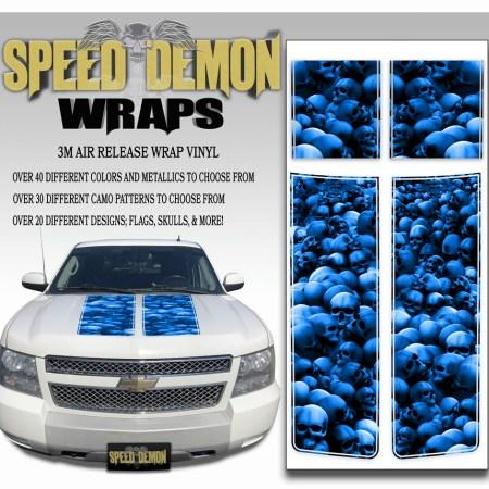 Chevrolet Avalanche Stripes Blue Skulls 2007-2013