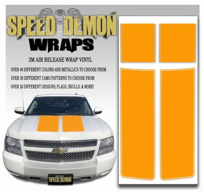Chevrolet Avalanche Stripes Orange 2007-2013