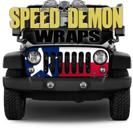 Jeep Wrangler Grill Wraps Texas 2007-2018 JK