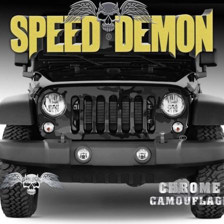 Jeep Wrangler Grill Wraps Urban Black Camouflage 2007-2018 JK
