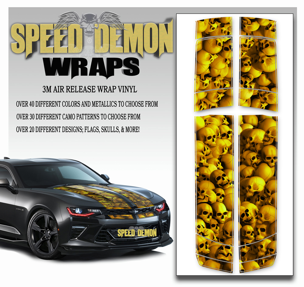 Skull Stripper V6 Camaro Stripes Golden 2016-2017-2018
