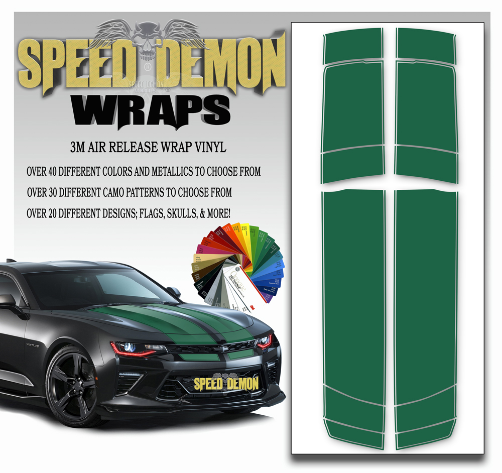 Camaro Stripes Green 2016-2017-2018