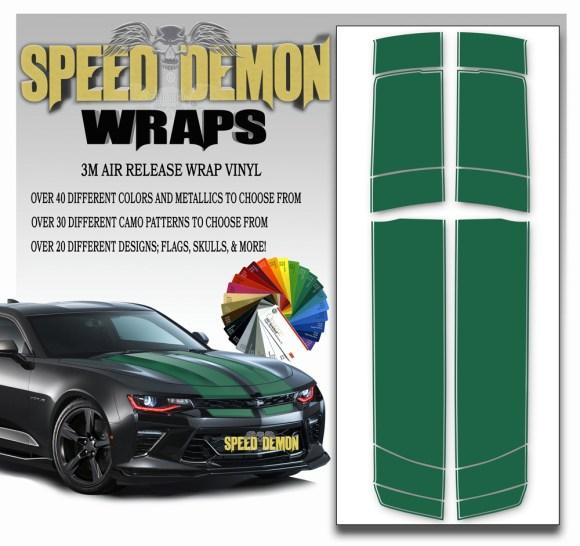 Camaro Stripes Green 2016-2017-2018