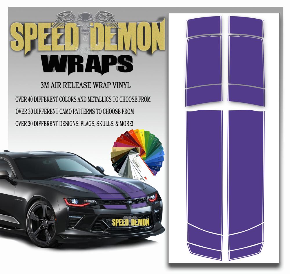 Camaro Stripes Purple 2016-2017-2018