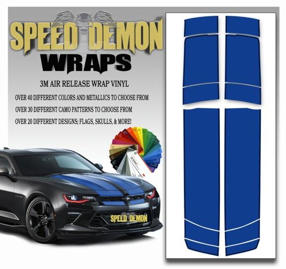 V6 Camaro Stripes Sapphire Blue BKPS 2016-2017-2018