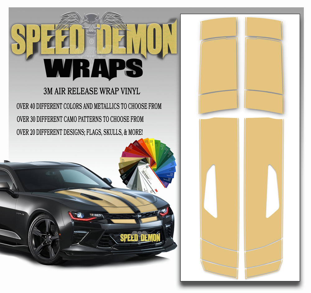 Camaro Stripes Beige 2016-2017-2018