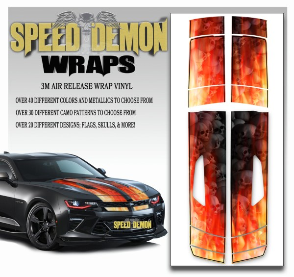 Camaro Stripes Flames Grey Skulls Inferno