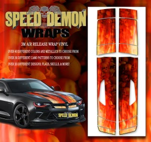 Camaro Stripes Flames Red Skulls Inferno W BLK PS 2016-2017-2018