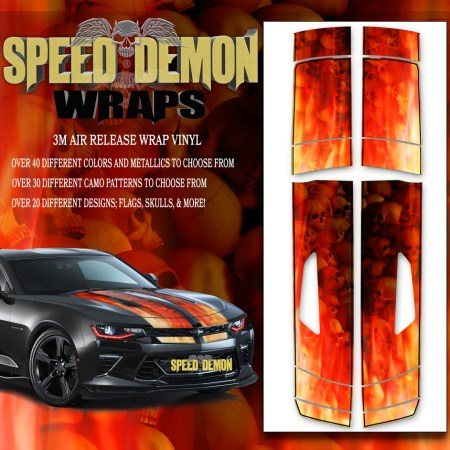 Camaro Stripes Flames Grey Skulls Inferno