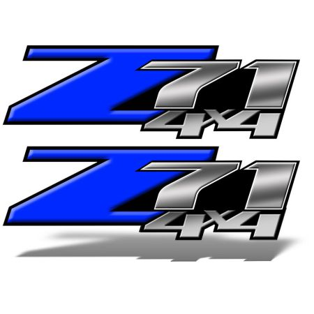Z71 4x4 DECALS Blue