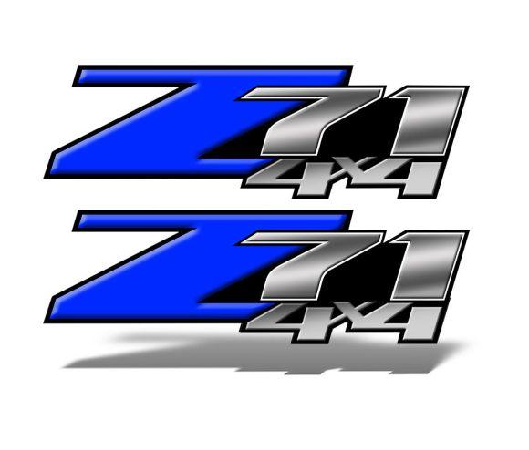 Z71 4x4 DECALS Blue