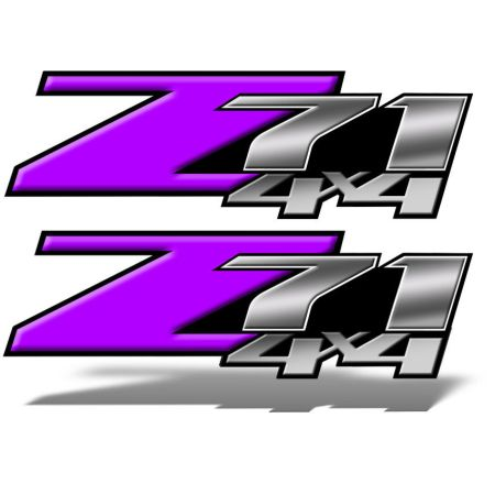 Z71 4x4 DECALS Purple