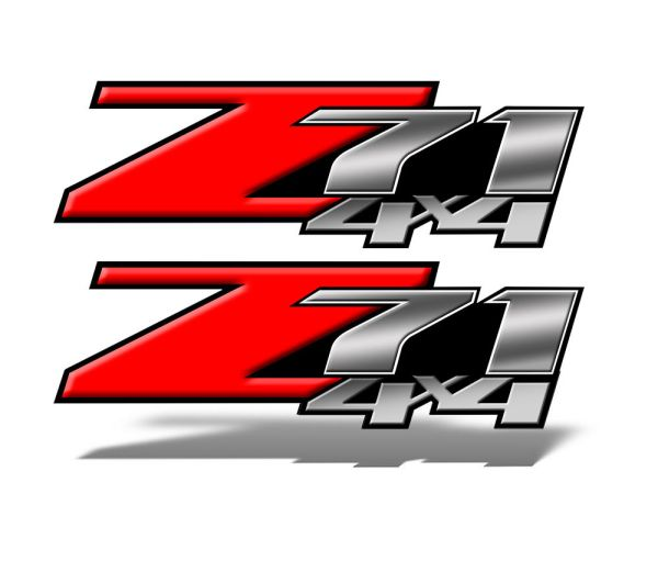 Z71 4x4 Decals Red