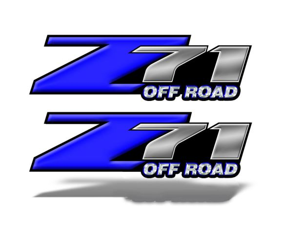 Z71 OFFROAD Decals Blue