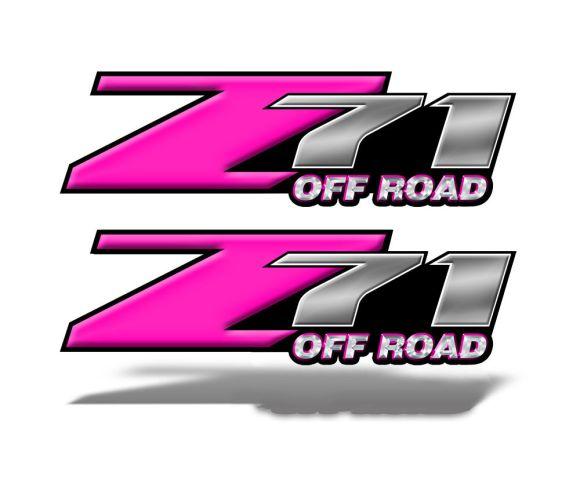Z71 OFFROAD Decals Pink
