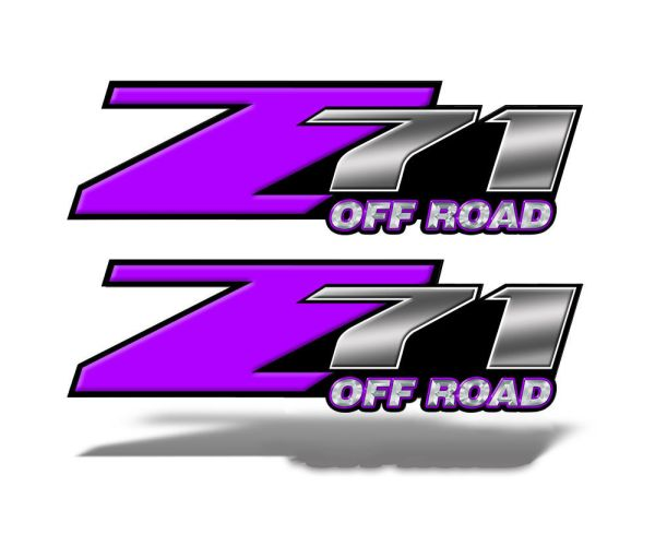 Z71 OFFROAD Decals Purple