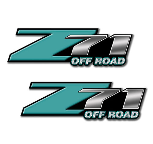 Z71 OFFROAD Decals Teal