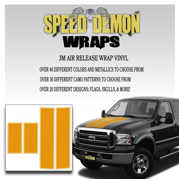 Ford F350-F250 Stripes Orange 1999-2006