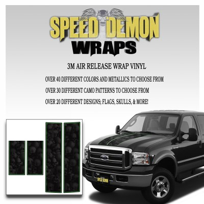Ford F350-F250 Stripes Skulls Ghosted 1999-2006 6