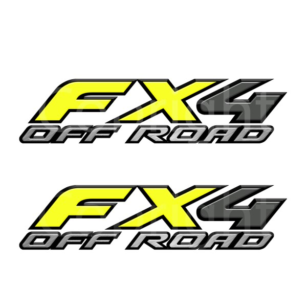 Fx4 Decal Yellow