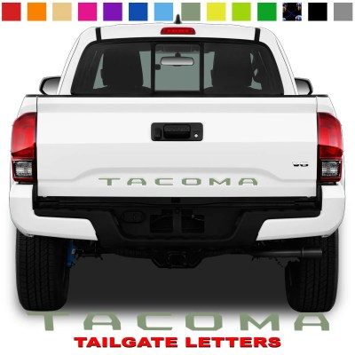 Toyota Tacoma Tailgate Lettering Army Green
