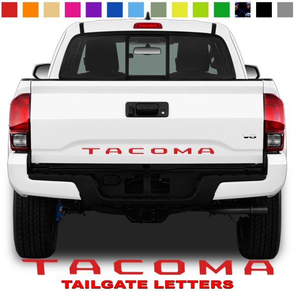 Toyota Tacoma TAILGATE LETTERS Red Rear Bed Lettering Kit