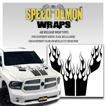 Dodge Ram Hood Decals Flames Kit 3 2009 2018