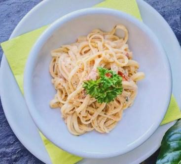 Dodos Spezialsauce mit Timilia-Pasta