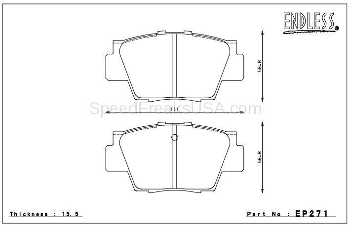 Endless NS97 EP271 Honda NSX Rear Brake Pads