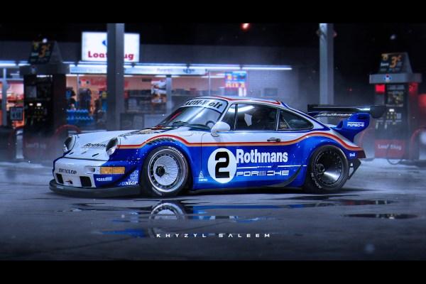 Porsche Race Car Art