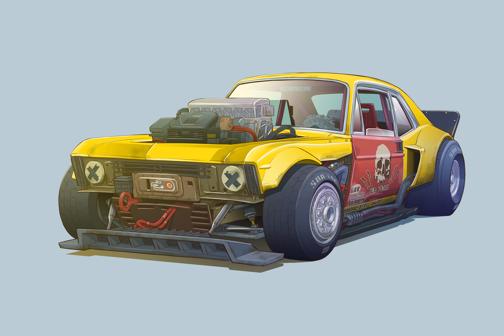 Cars As Characters The Art Of Damon Moran  Speedhunters