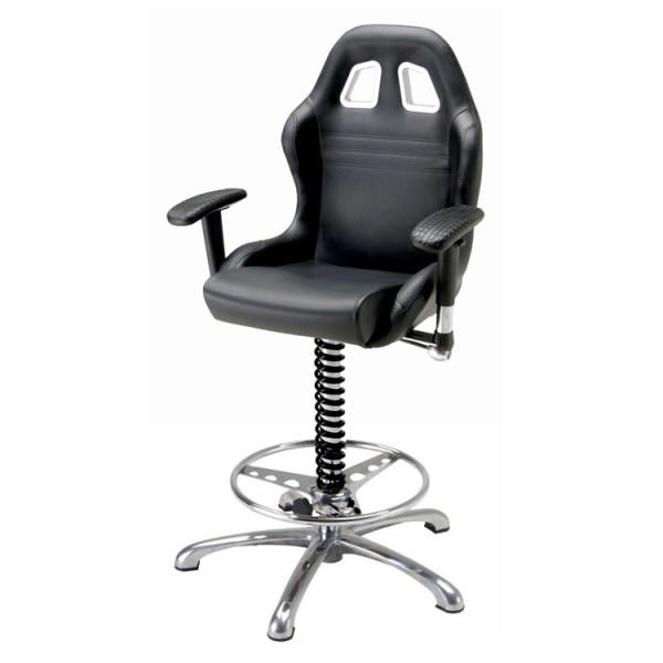 500|SPEEDLAB PitStop Crew Chief Bar Chair Black BC600B