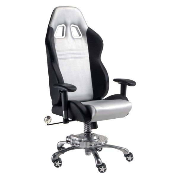 500|SPEEDLAB PitStop GT Office Chair Silver GP1000S