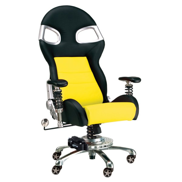 500|SPEEDLAB PitStop LXE Office Chair Yellow FO8000Y