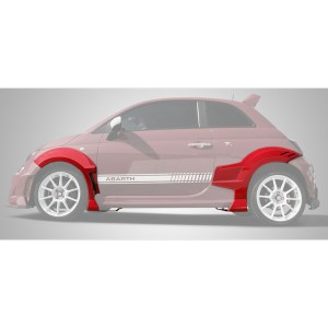 500|SPEEDLAB Fiat 500 Fender Flare Set Abarth Full Side