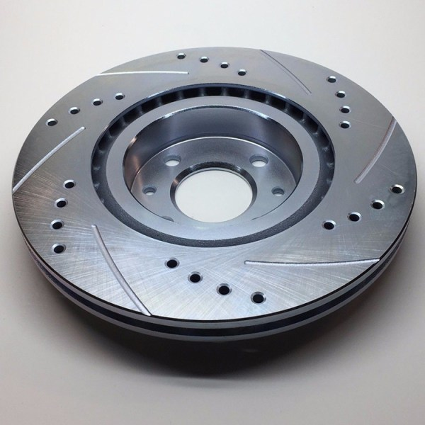 500|SPEEDLAB FIAT 500 Front Brake Rotor-Drilled and Slotted 03