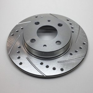 500|SPEEDLAB FIAT 500 Rear Brake Rotors-Drilled and Slotted 01