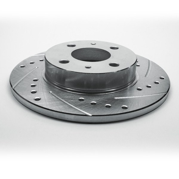 500|SPEEDLAB FIAT 500 Rear Brake Rotor-Drilled and Slotted 02