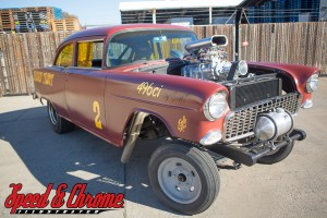 1955 Chevy Gasser with blown big block chevy