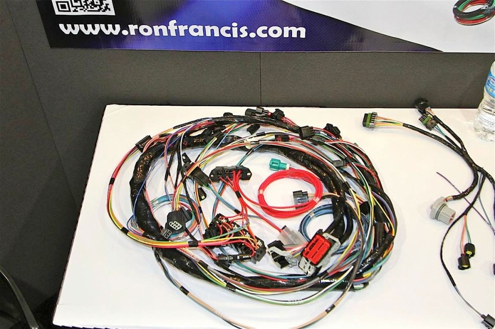 medium resolution of sema 2012 ron francis wiring kit simplifies 4 6 liter ford swaps ford engine swap wiring harness