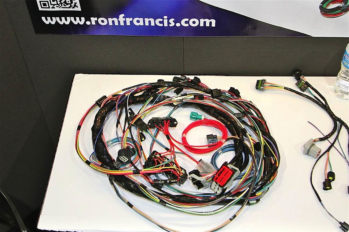 hight resolution of sema 2012 ron francis wiring kit simplifies 4 6 liter ford swaps ford engine swap wiring harness