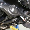 Here is the rear suspension on our biting bullet mustang before the