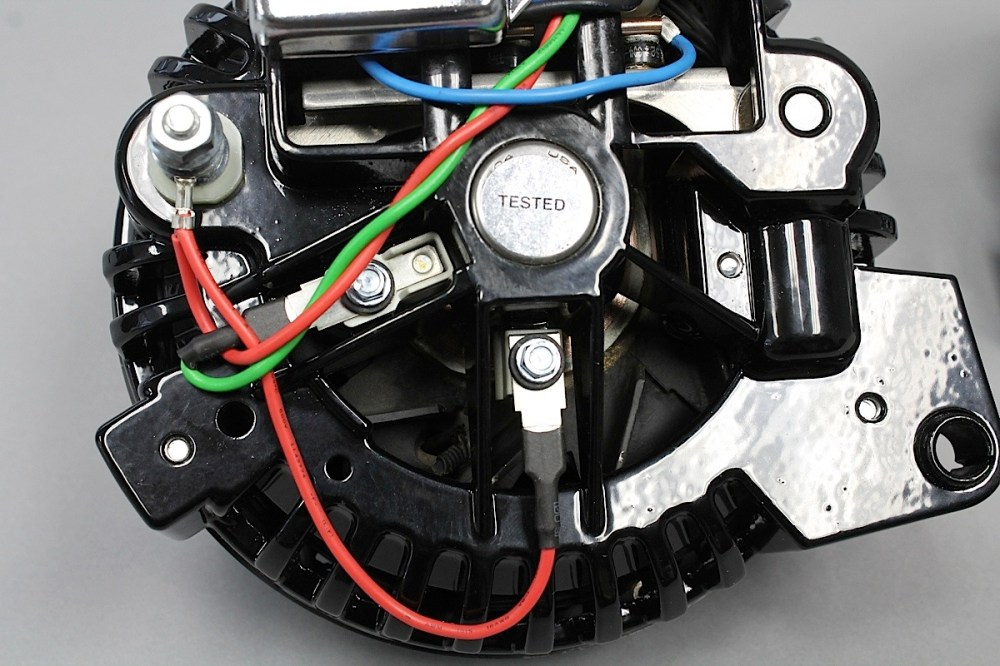 medium resolution of external voltage regulators are eliminated and built into the alternator itself