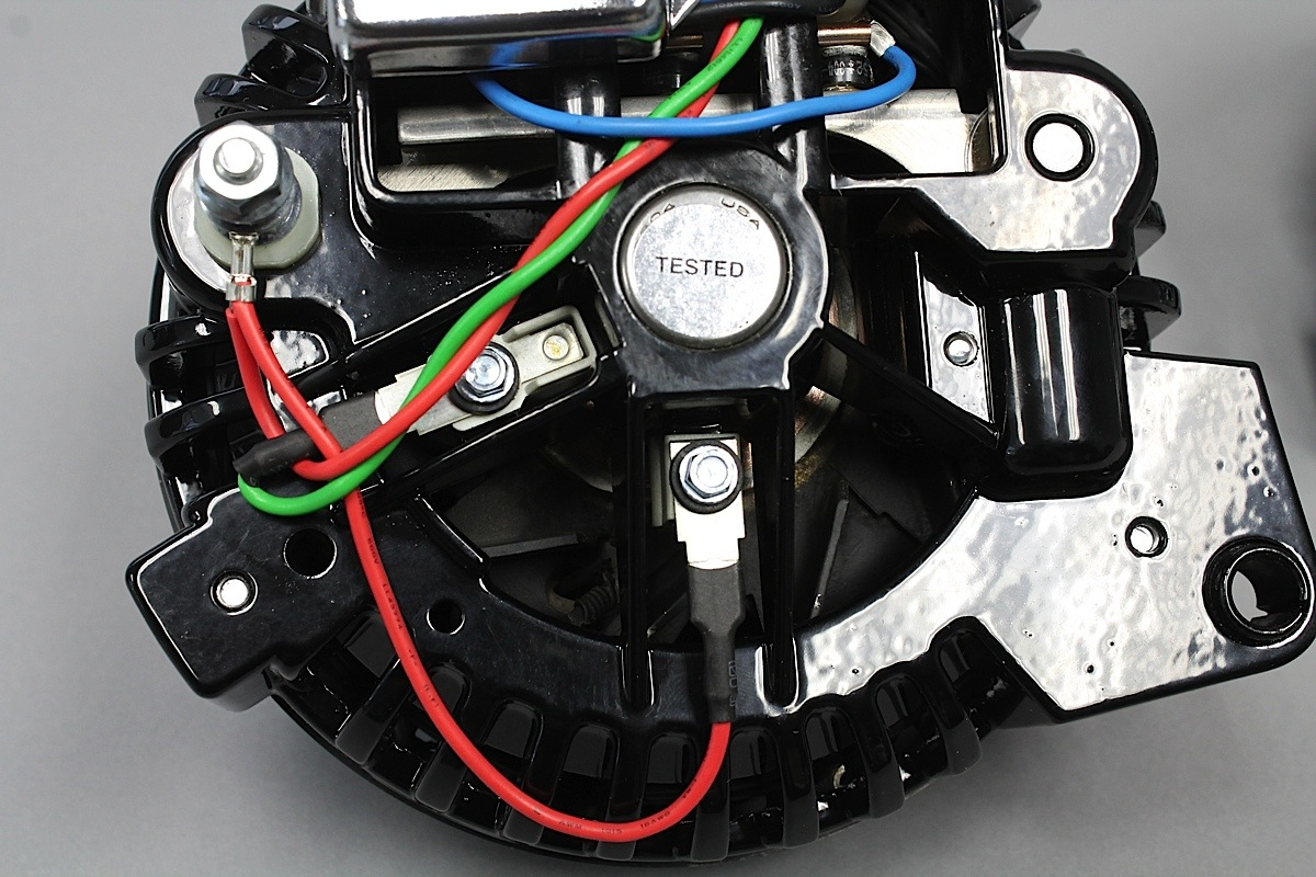 hight resolution of external voltage regulators are eliminated and built into the alternator itself