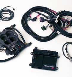 the holley terminator efi 4bbl tbi kit comes with the throttle body unit ecu  [ 1200 x 800 Pixel ]