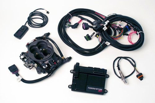 small resolution of the holley terminator efi 4bbl tbi kit comes with the throttle body unit ecu