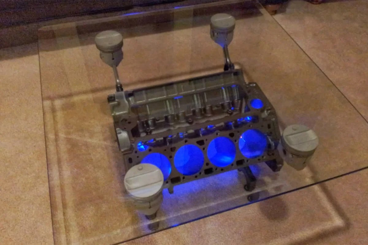 Butterfly Coffee Table Engine Block