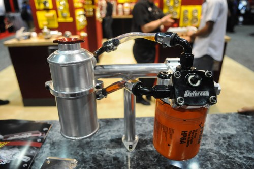 small resolution of we got our first look at peterson s new filter mount and primer more than three years ago at the pri show the unique new piece from the oil system