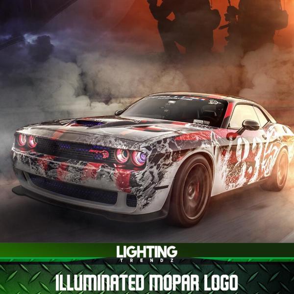 illuminated mopar logos