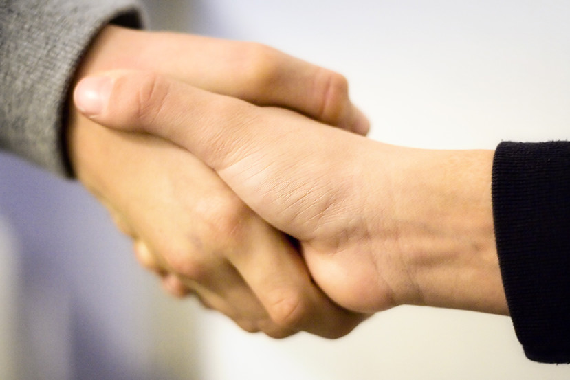 Social enterprise business handshake